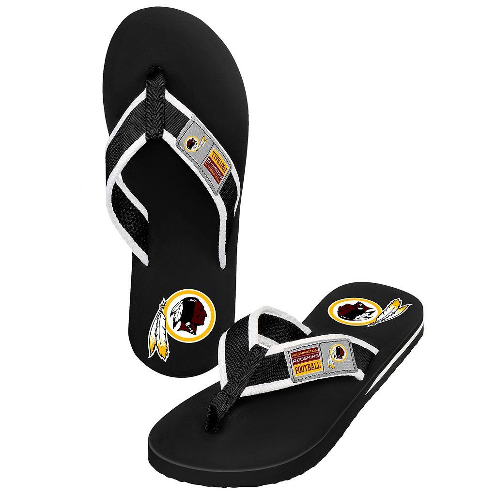 Men's Forever Collectibles Washington Redskins Locker Label Contour Flip-Flops