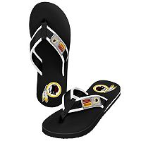 Men's Forever Collectibles Washington Redskins Locker Label Contour Flip-Flops