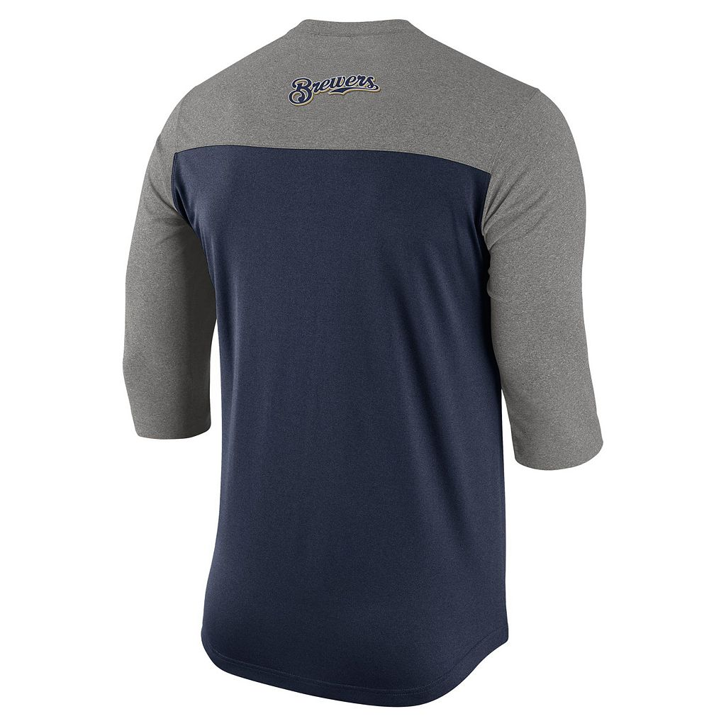 Men's Nike Milwaukee Brewers Dri-FIT Henley