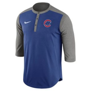 Men's Nike Chicago Cubs Dri-FIT Henley
