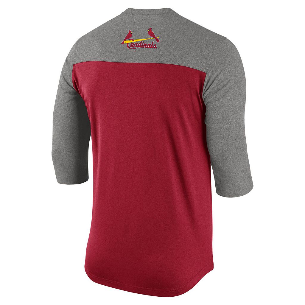 Men's Nike St. Louis Cardinals Dri-FIT Henley