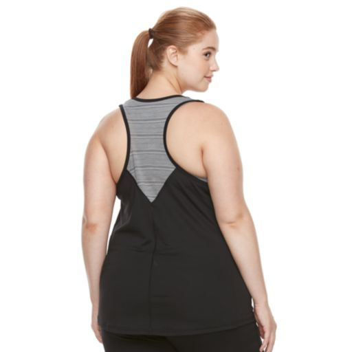 Plus size Tek Gear® DRY TEK Racerback Performance Tank