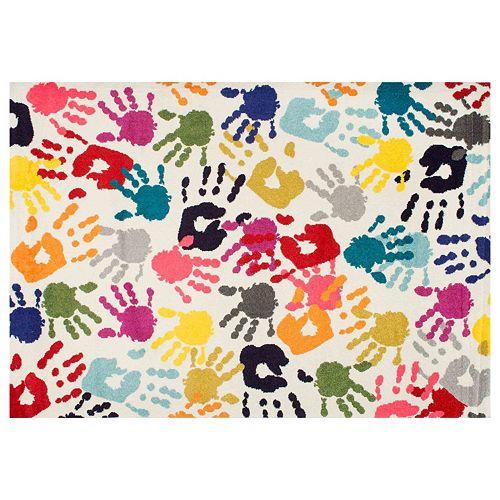 nuLOOM Carnival Pinkie Handprint Rug