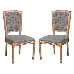 Linon Nottingham Tufted Dining Chair 2 pc Set