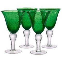 Artland Iris 4 pc  Goblet  Glass Set