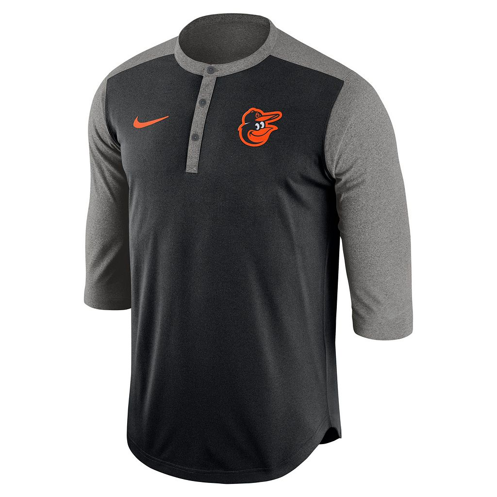 Men's Nike Baltimore Orioles Dri-FIT Henley