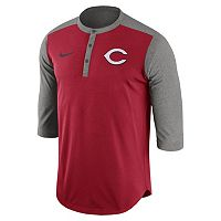 Men's Nike Cincinnati Reds Dri-FIT Henley