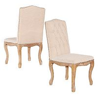Linon Portsmouth Square Back Accent Chair 2-piece Set