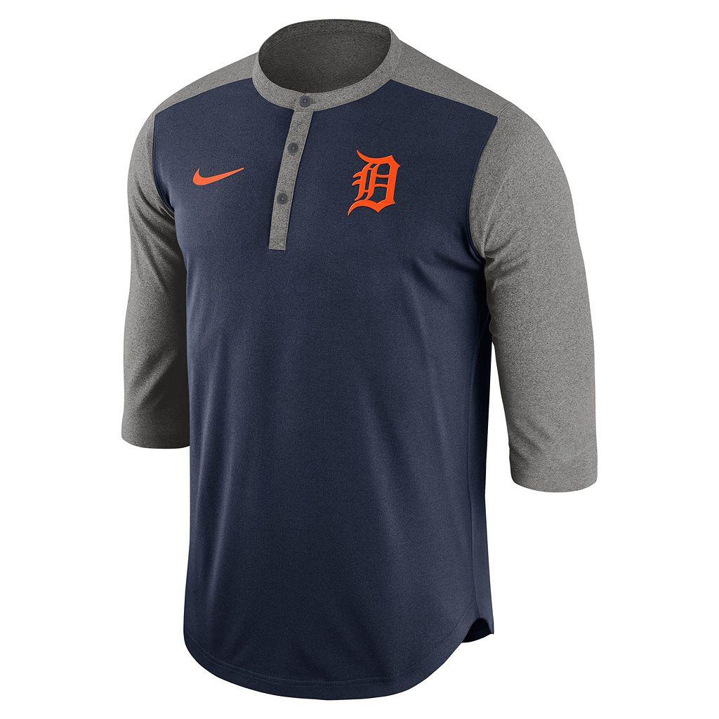 Men's Nike Detroit Tigers Dri-FIT Henley