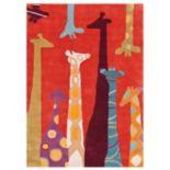 nuLOOM Lineage Giraffe Rug