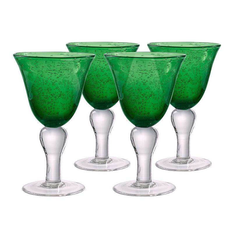 Artland Iris 4-pc. Wine Glass Set, Green