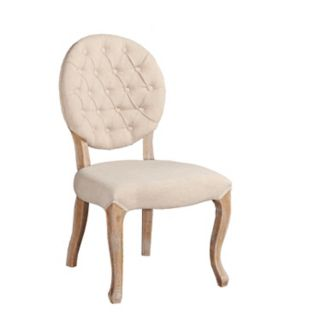 Linon Tufted Oval Back Accent Chair 2-piece Set