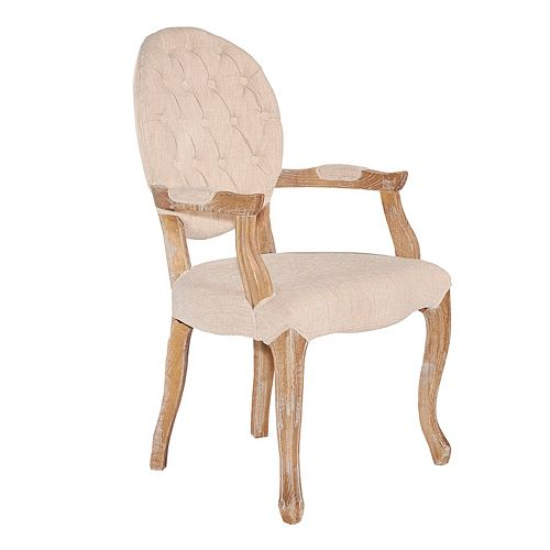 Linon Exeter Tufted Arm Accent Chair