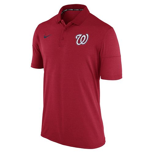 Men's Nike Washington Nationals Heathered Dri-FIT Polo