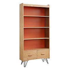 Linon Perry 2-Drawer Bookshelf