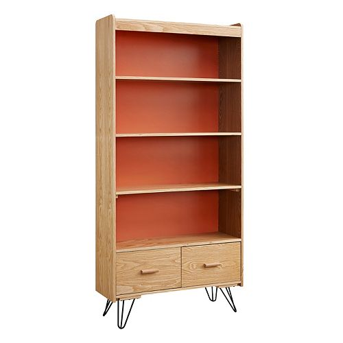 Linon Perry 2-Drawer Bookshelf