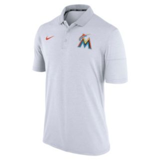 Men's Nike Miami Marlins Heathered Dri-FIT Polo