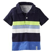 Toddler Boy OshKosh B'gosh® Engineered Stripe Jersey Polo Shirt