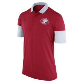 Men's Nike Cincinnati Reds Heathered Dri-FIT Polo