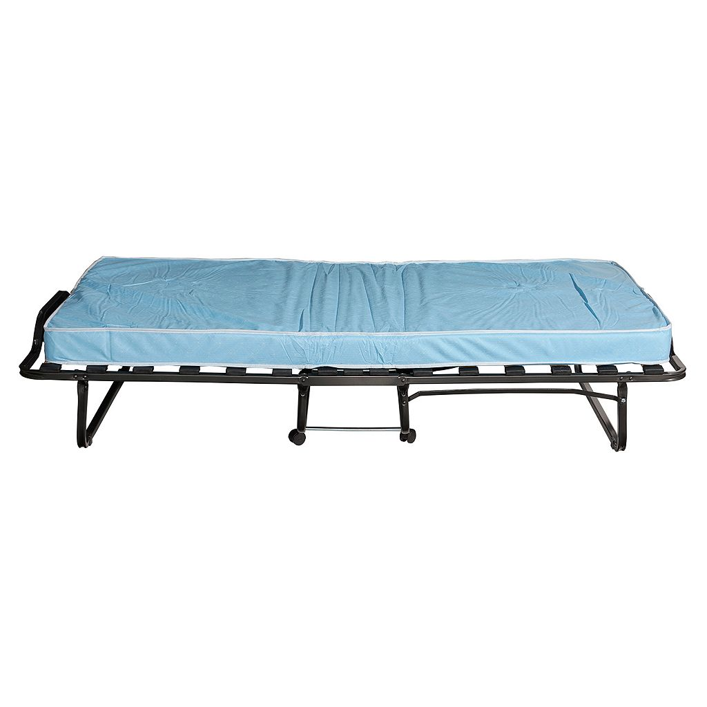 Linon Lyford Roll-Away Folding Twin Bed