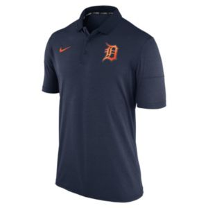 Men's Nike Detroit Tigers Heathered Dri-FIT Polo