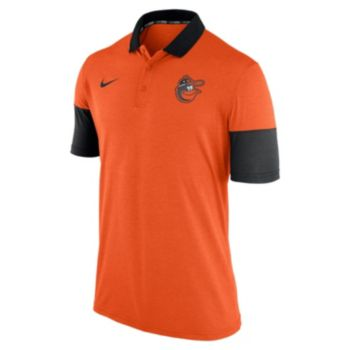Men's Nike Baltimore Orioles Heathered Dri-FIT Polo