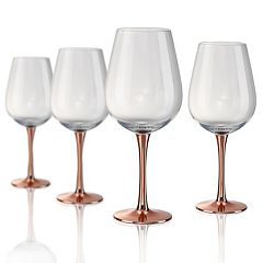 Artland Coppertino  4 pc Goblet Glass Set