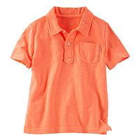 Toddler Boy OshKosh B'gosh® Short Sleeve Solid Slubbed Jersey Polo Shirt