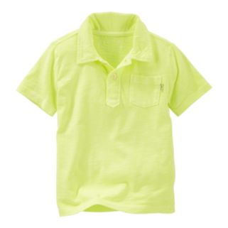 Toddler Boy OshKosh B'gosh® Short Sleeve Solid Slubbed Jersey Polo Shirt
