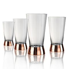 Artland Coppertino 4 pc Highball Glass Set