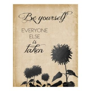 """Be Yourself"" Canvas Wall Art"