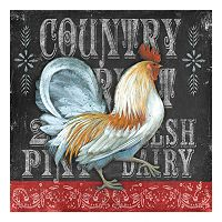 Blackboard Rooster 1 Canvas Wall Art