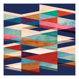 Blue Symmetry Canvas Wall Art