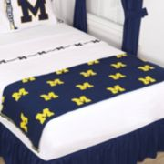 Sports Coverage Michigan Wolverines Bed Runner