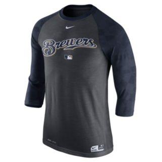 Men's Nike Milwaukee Brewers AC Dri-FIT Raglan Tee