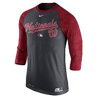 Men's Nike Washington Nationals AC Dri-FIT Raglan Tee
