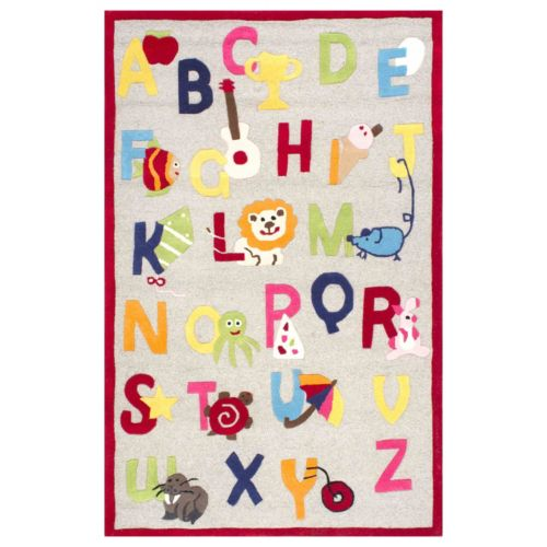 nuLOOM Kinder Animal Alphabet Wool Rug