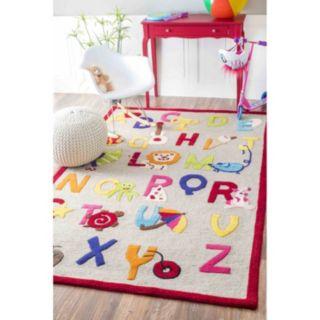 nuLOOM Kinder Animal Alphabet Wool Rug