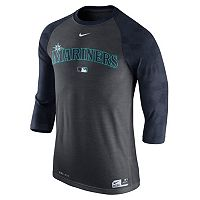 Men's Nike Seattle Mariners AC Dri-FIT Raglan Tee