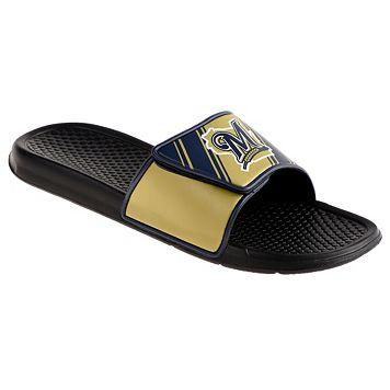 Men's Milwaukee Brewers Legacy Sport Slide Sandals