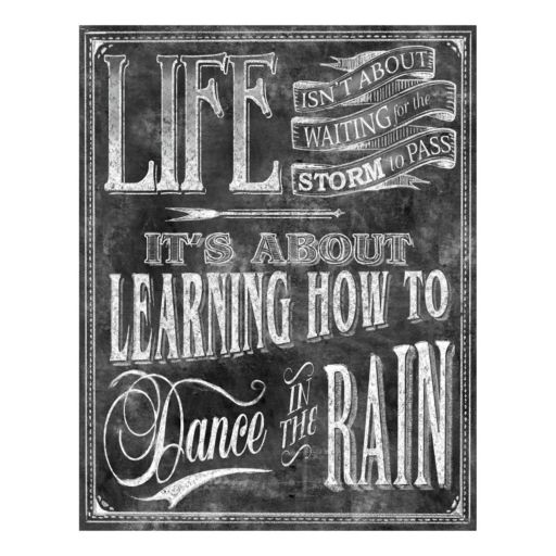 """Dance In The Rain"" Canvas Wall Art"