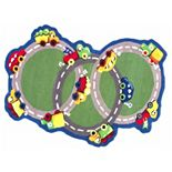 nuLOOM Kinder U Turn Road Wool Rug