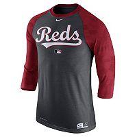 Men's Nike Cincinnati Reds AC Dri-FIT Raglan Tee