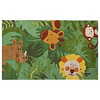 nuLOOM Kinder King Of The Jungle Wool Rug