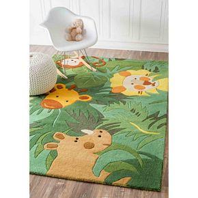 nuLOOM Kinder King Of The Jungle Wool Rug