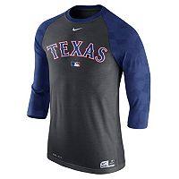 Men's Nike Texas Rangers AC Dri-FIT Raglan Tee