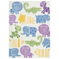 nuLOOM Kinder Animalia Wool Rug