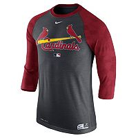 Men's Nike St. Louis Cardinals AC Dri-FIT Raglan Tee