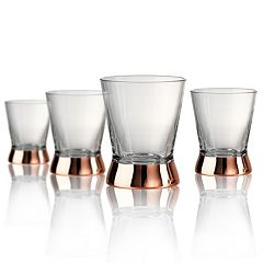 Artland Coppertino  4 pc Double Old-Fashioned Glass Set