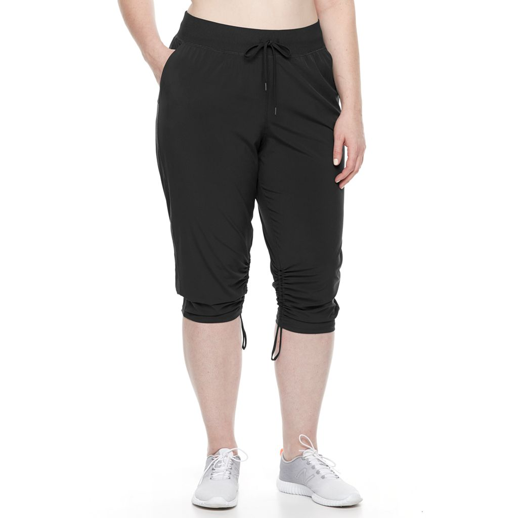 Plus Size Tek Gear® Woven Straight Leg Capri